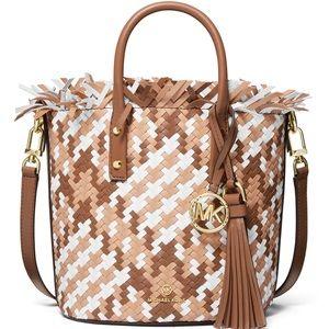 📍📍📍MICHAEL KORS Marley Leather Bucket  bag